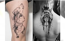 Dziewczyna z wilkiem - modny motyw tatuażu. Przejrzyjcie najpiękniejsze wzory!