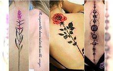 Tatuaż wzdłuż pleców na kręgosłupie - 30 pięknych wzorów, dla których warto pocierpieć!