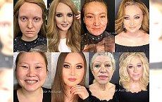 NIEWYOBRAŻALNE METAMORFOZY! Makijaż sprawił, że wyglądają jak milion dolarów. A wcześniej...? Zobaczcie!