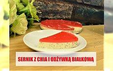 Sernik z ziarnami chia i odżywką białkową