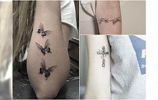 Mały tatuaż na ręce - delikatne wzory, kobiece motywy