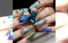 Aquarium nails - nowy trend w manicure, ale czy hit? Oceńcie sami oryginalny pomysł na paznokcie