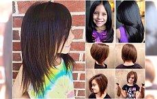 Fryzury dla dziewczynek - krótkie i średnie. GALERIA uroczych cięć!