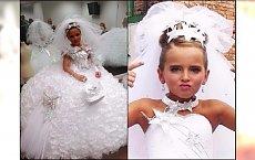To komunia czy ślub? Sukienki bezy, welony, makijaże, karety. Takiego przepychu jeszcze nie widzieliście!