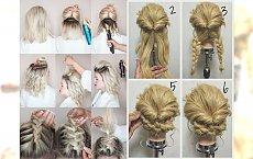 13 ślicznych upięć dla półdługich włosów - zdjęcia krok po kroku