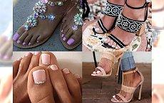 Śliczne inspiracje na pedicure, który będzie pasował do każdych sandałków