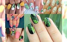 Hit! Śliczny manicure z motywem egzotyki - galeria inspiracji