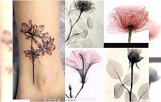 Tatuaże x-ray: kwiaty i motywy roślinne. Najpiękniejsze wzory dla kobiet!