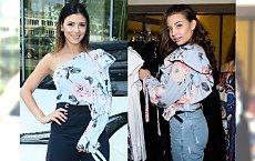 Klaudia Halejcio i Julia Wieniawa w takiej samej bluzce. Która wyglądała lepiej?