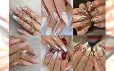 Paznokcie dla typowej sroczki - manicure pełen blasku i błyskotek! Galeria inspiracji
