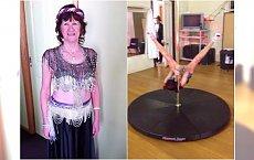 63-latka tańczy na rurze jak szalona! Takich nóg może jej pozazdrościć niejedna młodsza