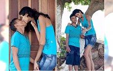 Tak wygląda najwyższa panna młoda na świecie. Jej mąż musi stawać na palcach, by dać jej całusa