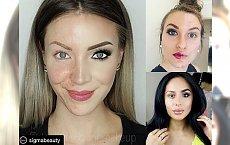 OMG! Pokazały, jak wyglądają naturalnie i w pełnym makijażu... Niektóre zdjęcia wbijają w fotel!