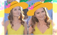Paulina Sykut-Jeżyna w słonecznej sukience, ale my patrzymy na nakrycie głowy. To najmodniejszy dodatek w tym sezonie!