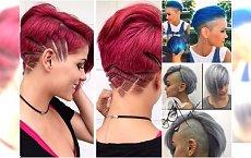 Krótkie fryzury - podgolone boki, wzorki, asymetryczne cięcia. 20 fantastycznych propozycji dla odważnych!