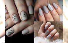 Śliczne inspiracje na elegancki manicure w szarościach - odświeżona galeria