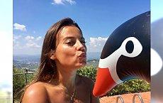 Anna Mucha opala się topless we Włoszech. Fani: Spaliłaś się