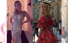Doda chwali się dwoma sukienkami na pokazie mody w Paryżu! Która lepsza?