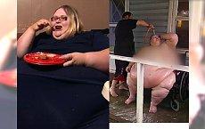 """SZOK! Waży 272 kilogramy, a mąż myje ją WĘŻEM OGRODOWYM. """"Kiedy jem, czuję się bezpiecznie"""""""