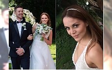 Dominika Gawęda w drugiej sukni ślubnej. Pierwsza była romantyczna, ta jest w zupełnie innym stylu