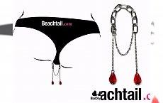 Beachtail - łańcuszek zdobiący dół bikini.... w kroczu. Będzie hit?