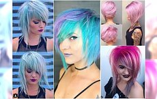 Szalone fryzury półdługie: asymetryczne, mocno cieniowane. Tylko dla przebojowych dziewczyn!