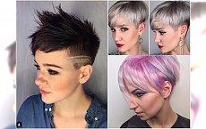 Krótkie fryzury damskie - rewelacyjne cięcia z grzywką, irokezem i wzorkami
