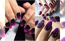 Jesienne hybrydy ombre - najpiękniejsze paznokcie ombre w ciemnych kolorach