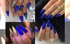 Kobaltowy manicure - energetyzujący kolor, który wypędzi Cię z jesiennej chandry. Piękne inspiracje!