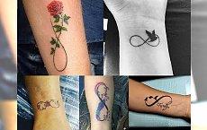22 nowe pomysły na tatuaże z symbolem nieskończoności - modne inspiracje dla dziewczyn