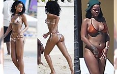 """Krągła Rihanna na wakacjach w Meksyku. Co się stało z jej sylwetką? """"Dzieje się coś u niej, ale..."""""""