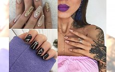 Manicure ze złotą taśmą to hit jesieni 2017! Deynn już taki nosi