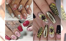 Manicure 2018: jesienny kwiatowy manicure. Zobacz galerię z najpiękniejszymi propozycjami