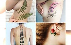 Przepiękne tatuaże w kolorze z motywem natury - cudowne inspiracje