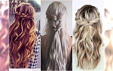 Trochę upięte, trochę puszczone - fryzury IDEALNE na każdą okazję!