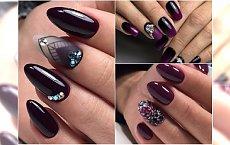 Ciemne paznokcie rządzą jesienią! Podsuwamy pomysły na eleganckie hybrydy z wzorkami