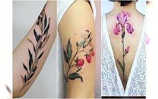 Roślinny tatuaż: kwiaty, gałązki, trawy. Przepiękne motywy, którym się nie oprzecie!