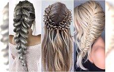 """Nowe pomysły na fryzury z warkoczem i upięcia. Wypróbujcie bubble braids, warkocz chiński i """"oszukany"""""""