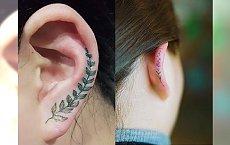 Hot trend dla odważnych - tatuaż na uchu! Galeria ślicznych inspiracji