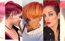 Krótkie fryzury w modnych odcieniach rudości. Wypróbujcie ognistą czerwień i wzorki!