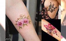 Flowers tattoos - najpiękniejsze wzory dla dziewczyn