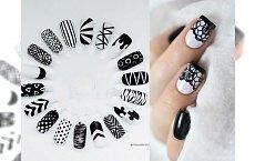 Czarno-biały manicure - galeria pomysłowych wzorków, które Cię urzekną