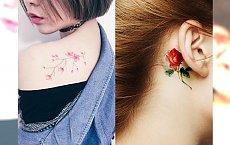 Subtelne tatuaże w kolorze z motywami natury - ultra kobiece propozycje!