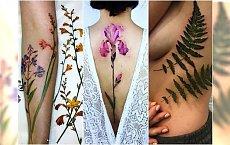 HOT TREND: botaniczne tatuaże. Wzory wyglądają jak prawdziwe rośliny!