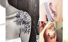 Tatuaż na ramię i łopatkę - top 20 kobiecych inspiracji