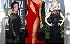 Złote Globy 2018: Wszystkie aktorki założyły czarne sukienki w ramach protestu. Tylko ona jedna się wyłamała. WPADKA ROKU?!