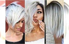 Biały blond - lodowaty kolor idealny na zimę. Jak go modnie wykorzystać?