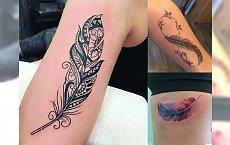 20 pomysłów na tatuaż z piórkiem - galeria, która zachwyca!