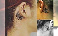 Tatuaż w okolicy ucha – 20 najmodniejszych wzorów dla dziewczyn