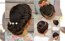 Fryzury komunijne dla dziewczynek - najpiękniejsze uczesania z wiankiem i kwiatami